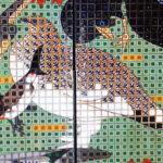 『鳥獣花木図屏風』部分3‐2
