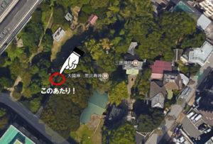 三囲神社 石碑設置場所
