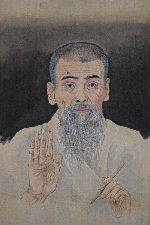 小林清親筆 自画像