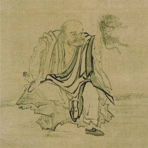 南泉斬猫図(長谷川等伯画)