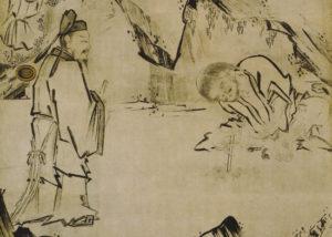 懶瓚煨芋図(長谷川等伯画)