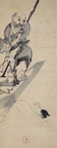 船子夾山図(長沢芦雪画)