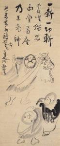 南泉斬猫図(仙厓画)