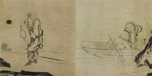 船子夾山図(長谷川等伯画)