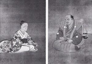 容斎父母之肖像(菊池容斎遺作展覧会図録(1937)より)