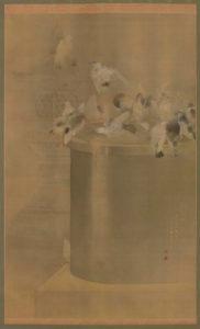 群鳩浴水盤ノ図