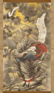 永濯「道真天祥山祈祷の図」