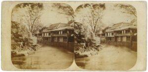 王子の料理屋(1859年、ピエール・ロシェ撮影:北区飛鳥山博物館蔵)