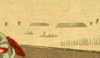 「大森朝の海」(拡大図)国立国会図書館蔵