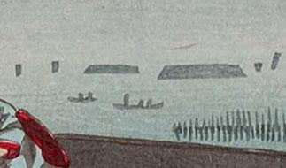「大森朝の海」(拡大図)東京都立図書館蔵